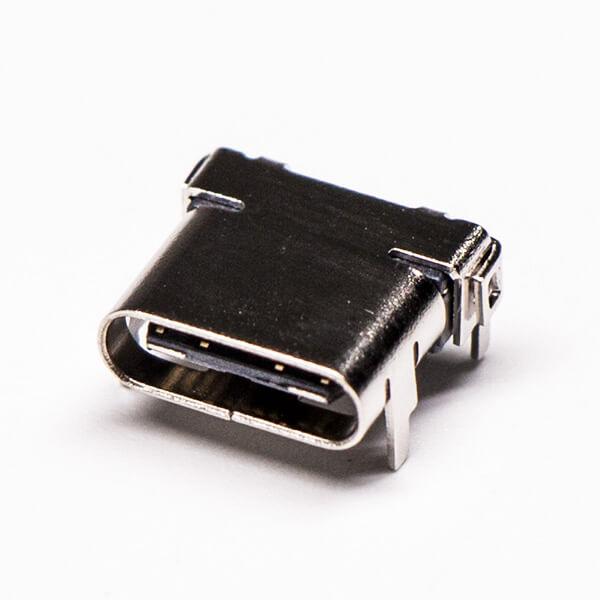 type c连接器弯式母头PCB板插板式贴板式