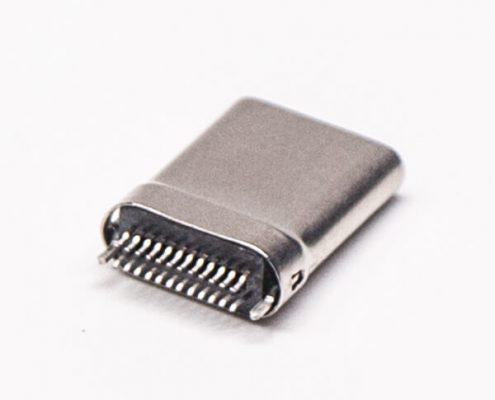 C Type铁壳直通式USB连接器