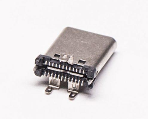 Type C公头直立式SMT接PCB板USB连接器