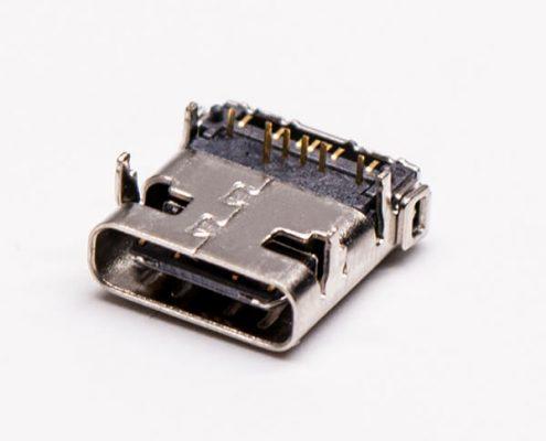 type c接头USB3.0母座弯头DIP+SMT