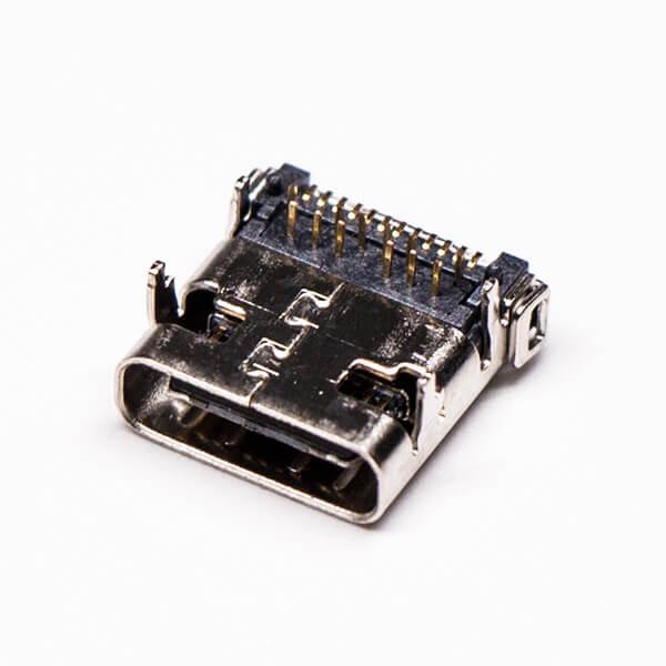 type-c接口和usb连接器弯式插板贴板母头接PCB板