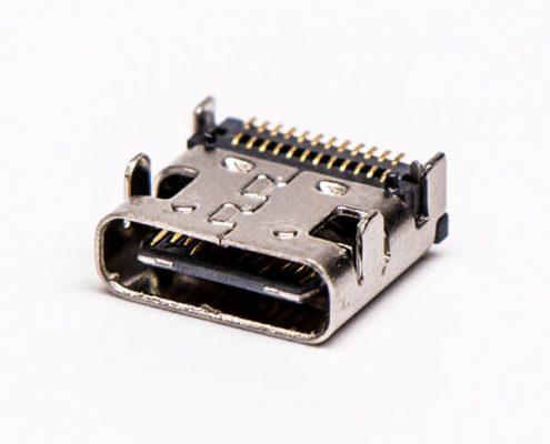 type-c 母座连接器USB3.0SMT贴板弯式