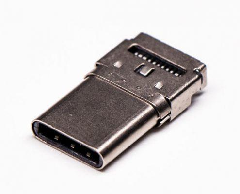 usb type c端口沉板式公头贴板接PCB板