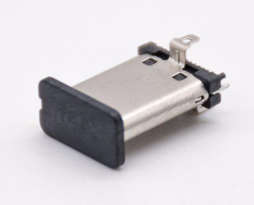 24芯公插头Type C 贴板3只脚带PCB板焊线