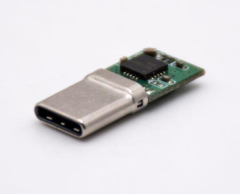 24芯Type C插头转4芯音频数字信号直式