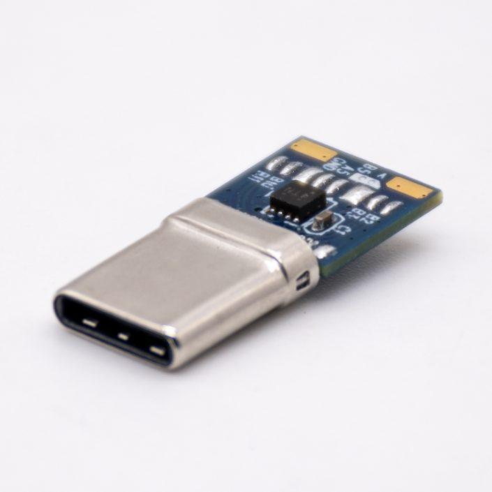 Type C连接器,USB3.2,公,插头,24芯,双面同轴,带IC卡