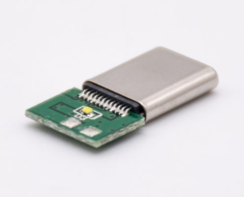 Type C 24芯直通型连接器带LED焊线