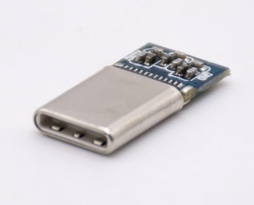 USB C Type公头24PIN 插头转Audio模拟信号直通型