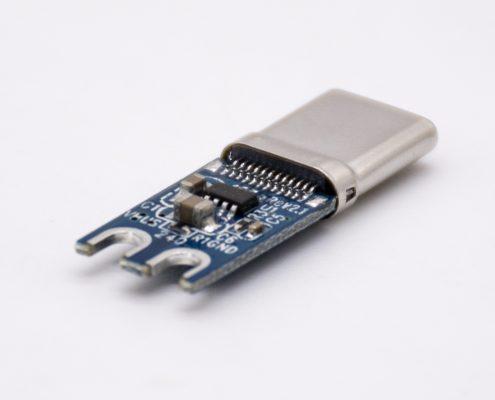USB2.0 Type C 24芯电流3A带EMARK芯片直式